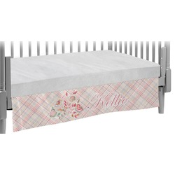 Modern Plaid & Floral Crib Skirt (Personalized)