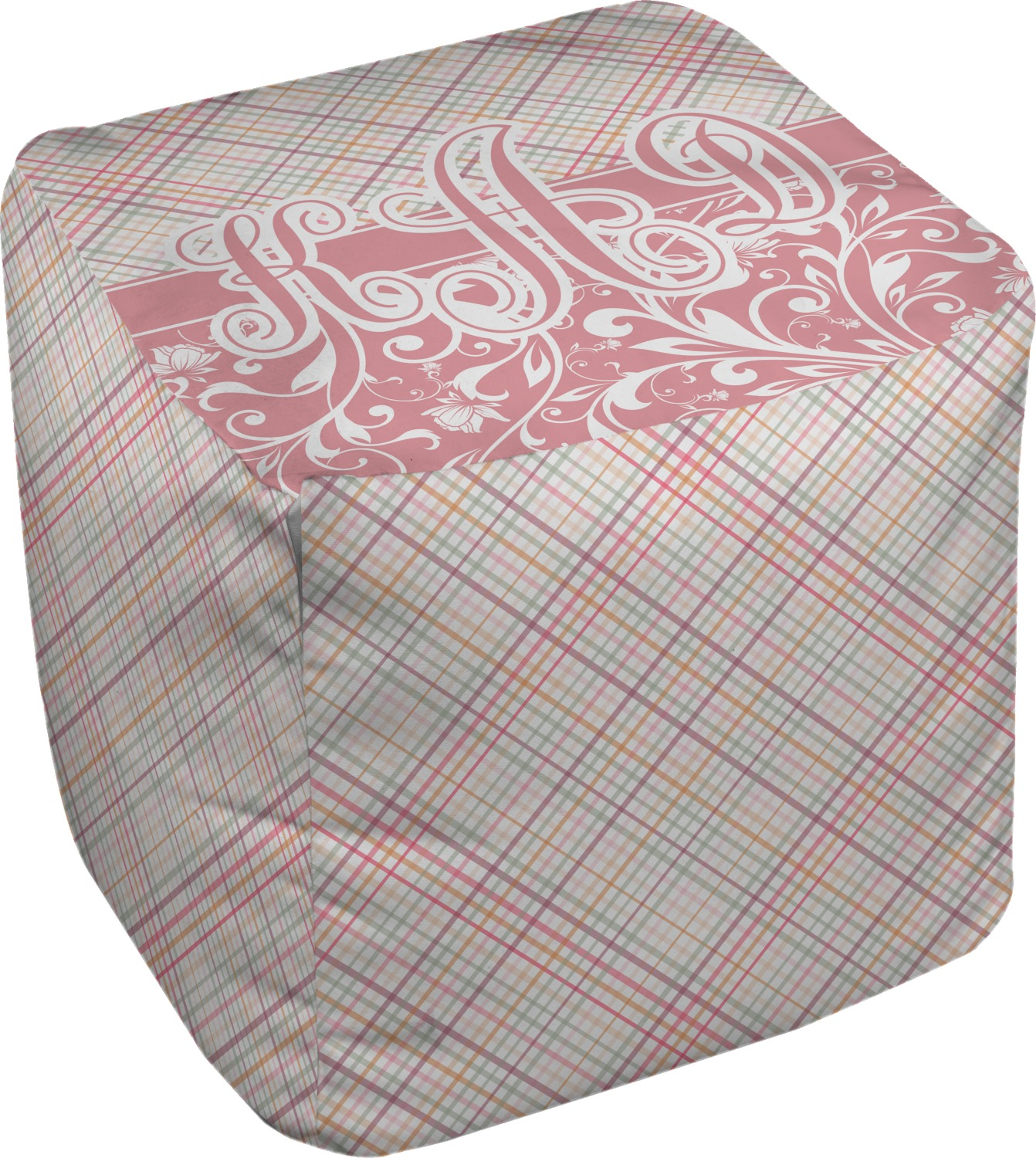 modern plaid floral cube pouf ottoman 18 personalized youcustomizeit. Black Bedroom Furniture Sets. Home Design Ideas