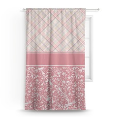 """Modern Plaid & Floral Curtain - 50""""x84"""" Panel (Personalized)"""