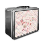 Modern Plaid & Floral Lunch Box (Personalized)