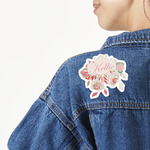 Modern Plaid & Floral Large Custom Shape Patch (Personalized)