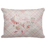"Modern Plaid & Floral Decorative Baby Pillowcase - 16""x12"" (Personalized)"