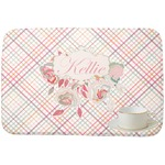 Modern Plaid & Floral Dish Drying Mat (Personalized)