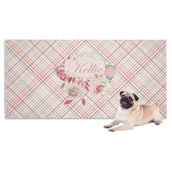 Modern Plaid & Floral Pet Towel (Personalized)