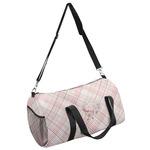 Modern Plaid & Floral Duffel Bag (Personalized)