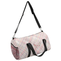 Modern Plaid & Floral Duffel Bag - Multiple Sizes (Personalized)