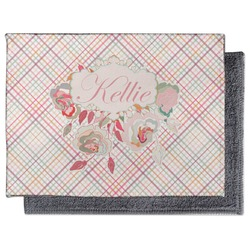 Modern Plaid & Floral Microfiber Screen Cleaner (Personalized)