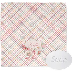 Modern Plaid & Floral Wash Cloth (Personalized)