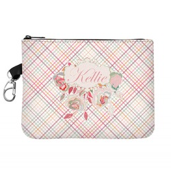 Modern Plaid & Floral Zip ID Case (Personalized)