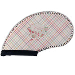 Modern Plaid & Floral Golf Club Cover (Personalized)