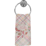 Modern Plaid & Floral Hand Towel - Full Print (Personalized)