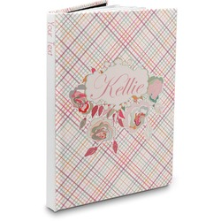 Modern Plaid & Floral Hardbound Journal (Personalized)