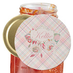 Modern Plaid & Floral Jar Opener (Personalized)