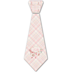 Modern Plaid & Floral Iron On Tie - 4 Sizes w/ Name or Text