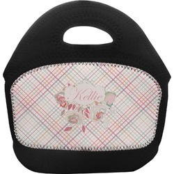 Modern Plaid & Floral Toddler Lunch Tote (Personalized)