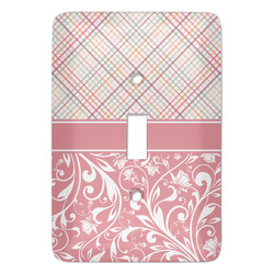 Modern Plaid & Floral Light Switch Covers - Multiple Toggle Options Available (Personalized)