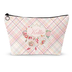 Modern Plaid & Floral Makeup Bags (Personalized)