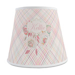 Modern Plaid & Floral Empire Lamp Shade (Personalized)