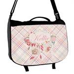 Modern Plaid & Floral Messenger Bag (Personalized)