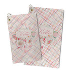 Modern Plaid & Floral Microfiber Golf Towel (Personalized)