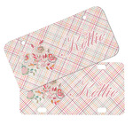 Modern Plaid & Floral Mini/Bicycle License Plates (Personalized)