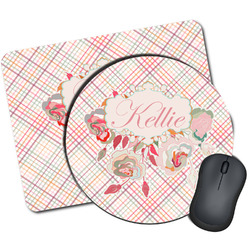 Modern Plaid & Floral Mouse Pads (Personalized)