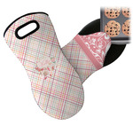 Modern Plaid & Floral Neoprene Oven Mitt (Personalized)