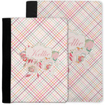Modern Plaid & Floral Notebook Padfolio w/ Name or Text