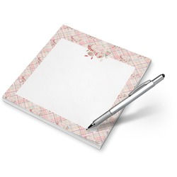 Modern Plaid & Floral Notepad (Personalized)