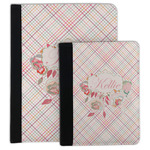 Modern Plaid & Floral Padfolio Clipboard (Personalized)