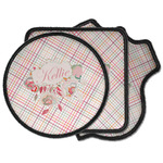 Modern Plaid & Floral Iron on Patches (Personalized)