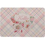 Modern Plaid & Floral Comfort Mat (Personalized)