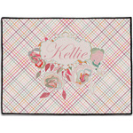 Modern Plaid & Floral Door Mat (Personalized)