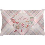 Modern Plaid & Floral Pillow Case (Personalized)