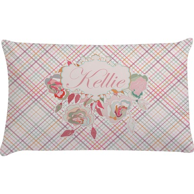 Modern Plaid & Floral Pillow Case - Standard (Personalized) - YouCustomizeIt