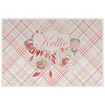 Modern Plaid & Floral Placemat (Laminated) (Personalized)