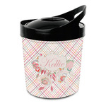 Modern Plaid & Floral Plastic Ice Bucket (Personalized)