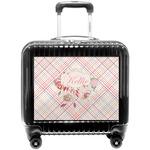 Modern Plaid & Floral Pilot / Flight Suitcase (Personalized)