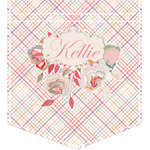Modern Plaid & Floral Iron On Faux Pocket (Personalized)