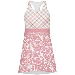 Modern Plaid & Floral Racerback Dress (Personalized)