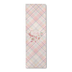 Modern Plaid & Floral Runner Rug - 3.66'x8' (Personalized)