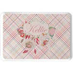 Modern Plaid & Floral Serving Tray (Personalized)