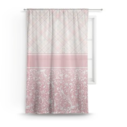 Modern Plaid & Floral Sheer Curtains (Personalized)