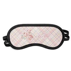 Modern Plaid & Floral Sleeping Eye Mask (Personalized)