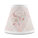 Modern Plaid & Floral Chandelier Lamp Shade (Personalized)