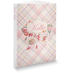 Modern Plaid & Floral Softbound Notebook (Personalized)