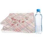 Modern Plaid & Floral Sports & Fitness Towel (Personalized)