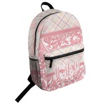 Modern Plaid & Floral Student Backpack (Personalized)