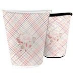 Modern Plaid & Floral Waste Basket (Personalized)