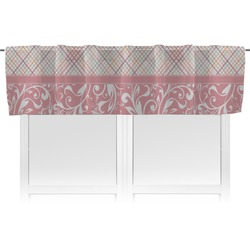 Modern Plaid & Floral Valance (Personalized)
